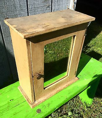 antique medicine cabinet With Mirror Antique Mustard Yellow Paint Adj.shelves