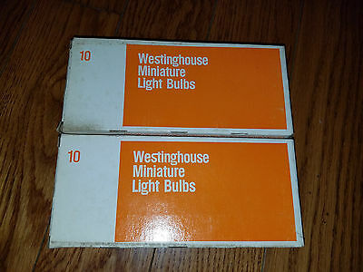 NOS 20 Westinghoise Painted Amber Stop/Turn Signal Taillight Bulbs 1034A