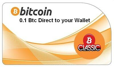 0.1 Bitcoins (BTC) Direct To Your Wallet