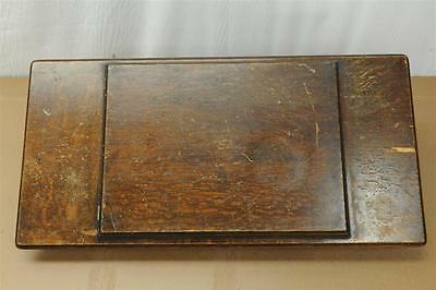 .antique Singer Treadle Sewing Machine Wood Top With Center Drawer.