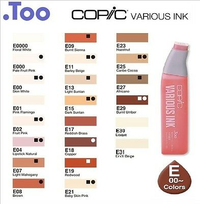 """Copic Various Ink """"E(Earth)00-31 Color Series""""Refill for Too Sketch&Ciao"""