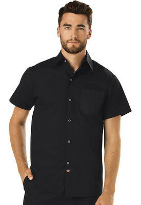 Dickies Mens Cook Shirt Black  DC60 BLK FREE SHIP!