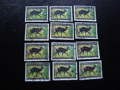 COTE D IVOIRE - timbre yvert/tellier n° 502 x12 obl (A27) stamp (Z)