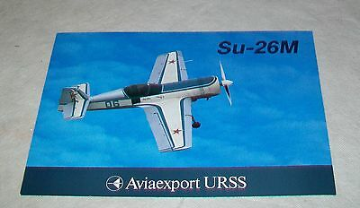 AVIAEXPORT Su-26M AEROBATIC AIRCRAFT SPECIFICATION SHEET IN FRENCH SUKHOI