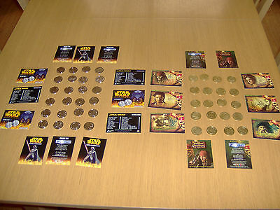 24 Star Wars & 20 Pirates Of The Caribbean Medallionzs - Coins