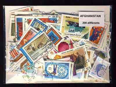 Afghanistan 300 stamps different defaced