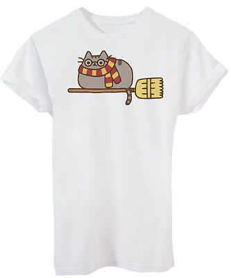 T-Shirt PUSHEEN HARRY POTER QUIDDITCH - DIVERTENTE - by iMage