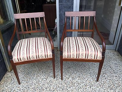 Regency Style Carver Chairs Mid 20th Century