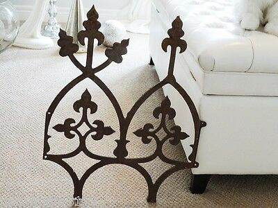 "GOTHIC salvaged WIDOW'S WALK roof cresting sec. CAST IRON architectural 22""H"