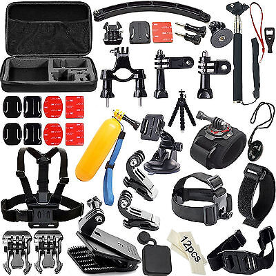 Camcorder Camera Photo Accessories Kit for Go Pro Hero Action Camera Bundle Set