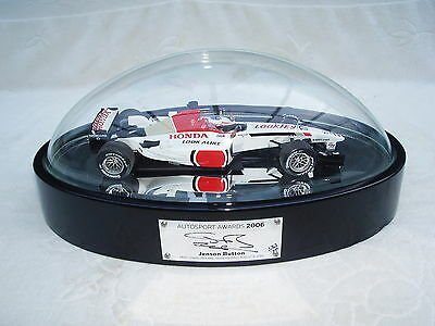 Signed Jenson Button 2006 Autosport Awards Table Centre Piece.