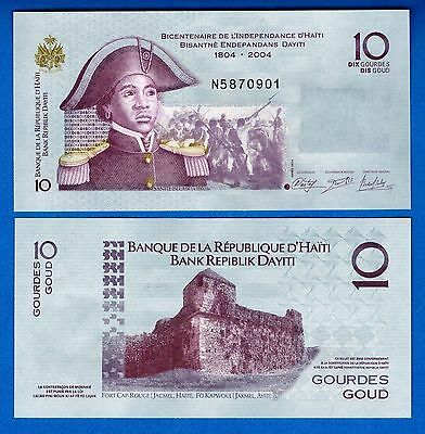 Haiti P-272 10 Gourdes Year 2014 Uncirculated FREE SHIPPING