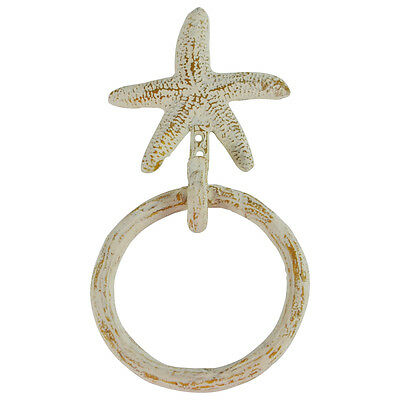 Wall Mount Starfish Kitchen/Bath Towel Ring Holder Hanger Hook Nautical Decor