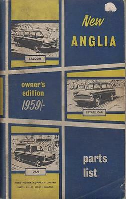 Ford Anglia Saloon Estate & Van Original 1959 Owners Illustrated Parts List