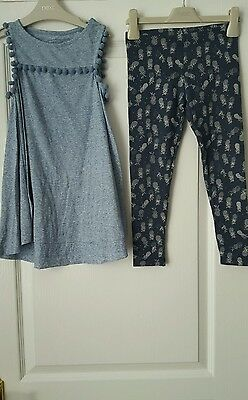 Girls Next Top & Leggings Set Of 2 Outfit Age 7 Years Immaculate Condition