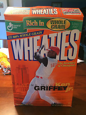 Welcome Home Ken Griffy Jr. Limited Edition Wheaties Box Flat and Empty