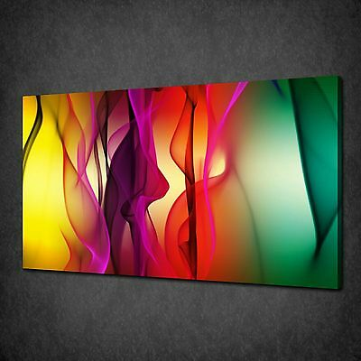 Colourful Abstract Waves Modern Canvas Wall Art Print Picture Ready To Hang
