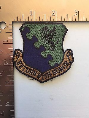 "USAF 31st FIGHTER WING PATCH (AFN-1) ""RETURN WITH HONOR"""