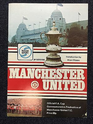 Rare Official  Manchester United - World Of Sport 1977 Fa Cup Final Preview Mag