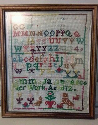 Antique Victorian sampler