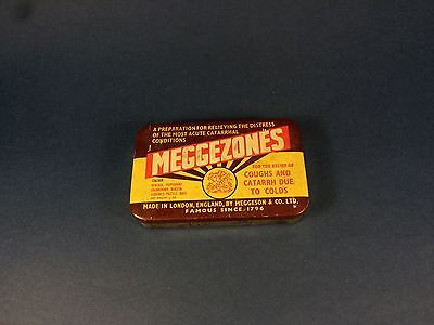 Rare Vintage Old British Tin Box Meggezones