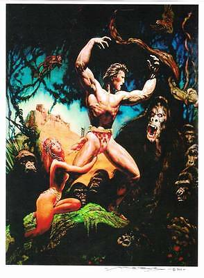 MARCUS BOAS signed & dated fantasy poster - 11 x 15 - Tarzan of the Apes.
