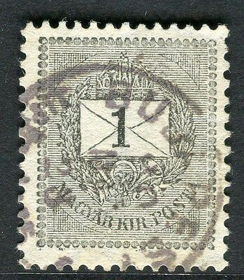 HUNGARY;  1888 classic definitive issue used 1k. fine shade,  Perf  12x11.5