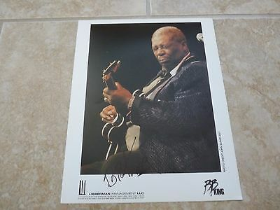 BB King Blues Signed Autographed 8x10 Live Concert Photo PSA Guaranteed #2
