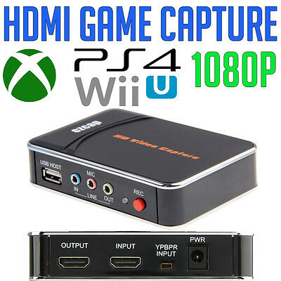 FHD 1080P Game Capture Gaming Recorder HDMI PS4✓Xbox One✓Wii U✓Nintendo✓PC NEW