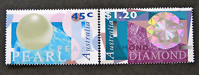 Australian Decimal Stamps: 1996 Diamonds and Pearls - Set of 2 MNH