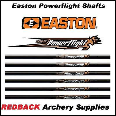 12 Easton Powerflight 500 spine arrow SHAFTS for Archery or Bowhunting NEW