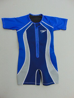 Wetsuit Childrens Size 6 Neoprene Body UV Ray Arms Blue Grey Excellent