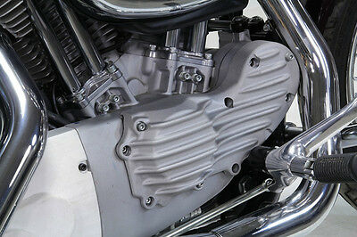 Old School Raw Cast Ribbed Finned Cam Cover For Harley Sportster Xl 1991-2015