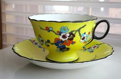 Atlas Grimwades Antique THORN BLOSSOM China Tea Cup & Saucer Hand Painted