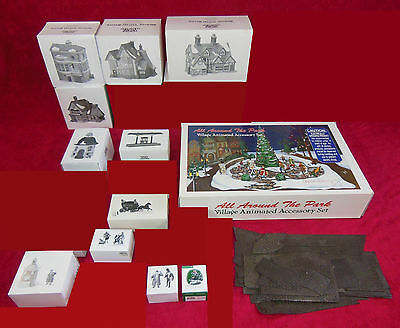 Dept 56 Dickens Village Collection #4, Qty 21 Buildings & Accessories