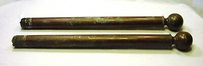 "Antique Pair of Cast Bronze 36.5"" Staircase Posts Poles"