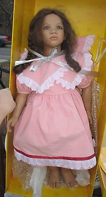 """Annette Himstedt """"Lona"""" Doll Images Of Childhood 29"""" tall/box-coa/papers/shipper"""