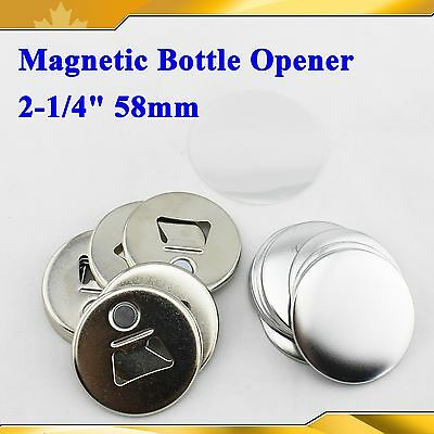 "58mm 2-1/4"" Magnetic Bottle Opener  Parts 100set Supplies for Pro Button maker"