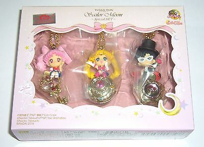 Bandai Sailor Moon 20th Twinkle Dolly Mini Figure Key Chain Special Set of 3