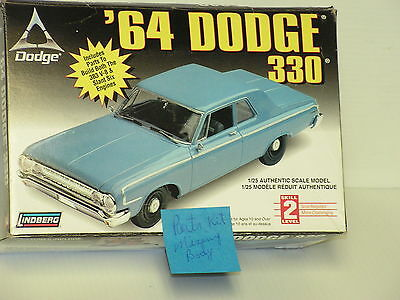 Lindberg 1/25 1964 Dodge 330 Painted Body Sold As Parts Only Kit