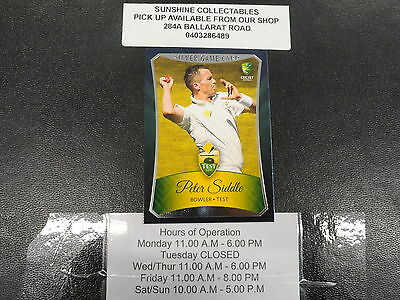 2016/17 Cricket Tap N Play Silver Game Card No.012 Peter Siddle
