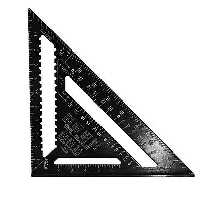 7 inch Metric system Black Aluminum Alloy Measure Speed Square Roofing Triangle