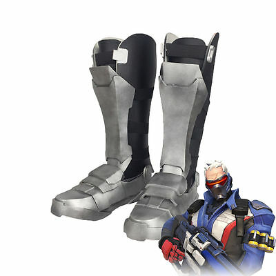 Overwatch Soldier 76 Cuish Boots Shoes Cosplay Props Accessory EVA