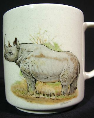 Vintage Coffee Mug Rhinoceros Design Made in Japan