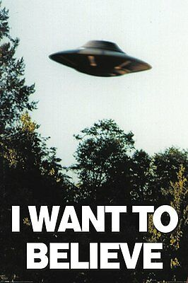 X-Files - Brand New Licensed I Want to Believe Poster 91.5cm x 61cm - UFO Aliens
