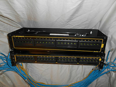 Lot of 2 Ortronics OR-851044265 OR-851004904 CAT 5e Patch Panels