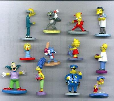 SET 12 Figures THE SIMPSONS from PANINI ITALY 2000 Rare MINT Burns Moe Bart etc.