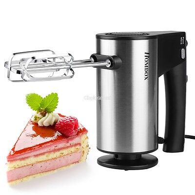 10 Speed Hand Held Food Cake Dough Electric Whisk Blender Beater Mixer