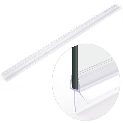 2 Pieces Rubber Plastic Shower Screen Seal Strips For 6 OR 8MM Glass Bath Door