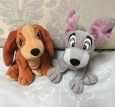 """Lady And The Tramp 5"""" Soft Beanie Toys."""